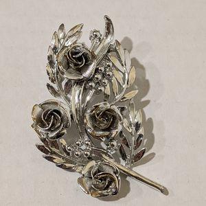Silver Tone Brooch